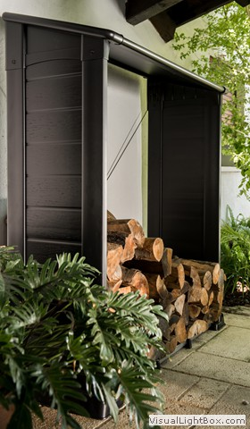 unterstand f r kaminholz firewood shelter spa im garten. Black Bedroom Furniture Sets. Home Design Ideas